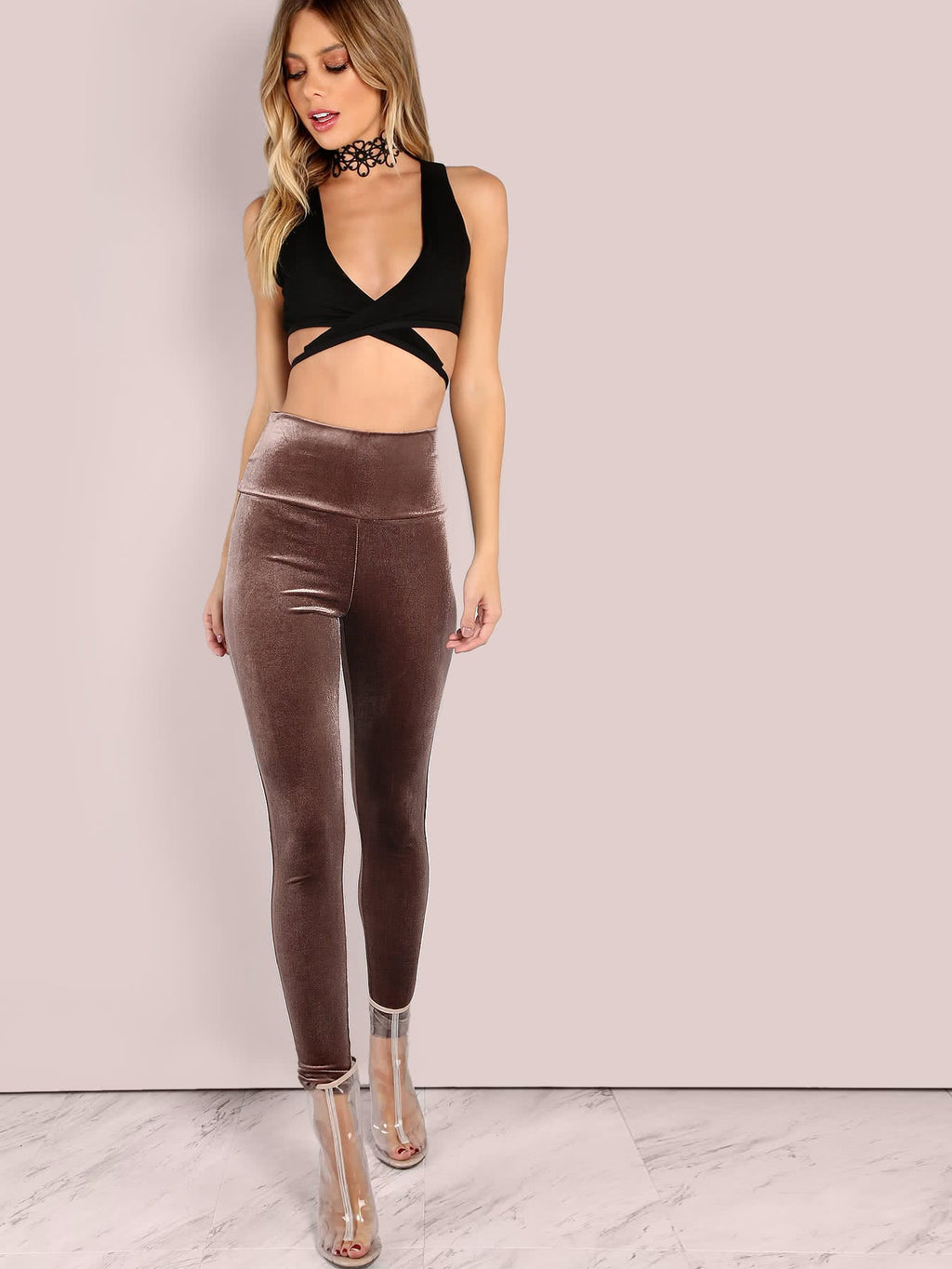 Samt Leggings