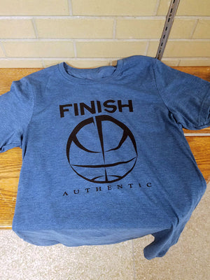 Finish Authentic - FA Big Mark Teal Designer Basketball T-Shirt