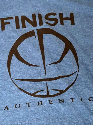 Finish Authentic - FA Big Mark Teal Designer Basketball T-Shirt Closeup