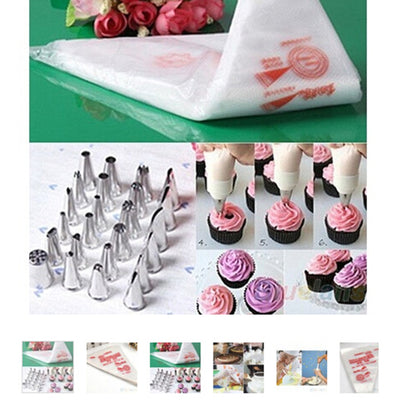 100 PCS  Disposable Baking and Pastry bags set - Kitchendayz