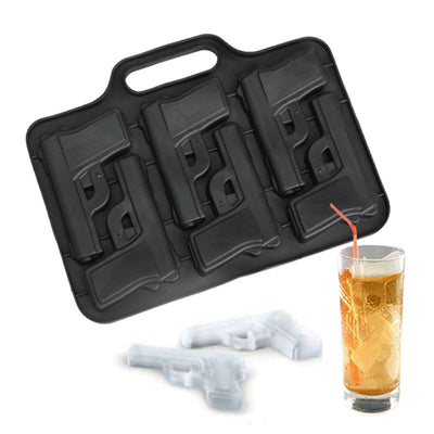 Party Drink Ice Tray Cool Pistol Gun Ice Cream Maker Mould Tool Cube Style Mold Maker Large Ice Tubes Mould  Bar Drink - Kitchendayz