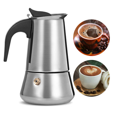 Stainless Steel Moka Coffee Maker - Kitchendayz