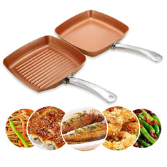 Non-Stick Copper Square Frying Pan Set