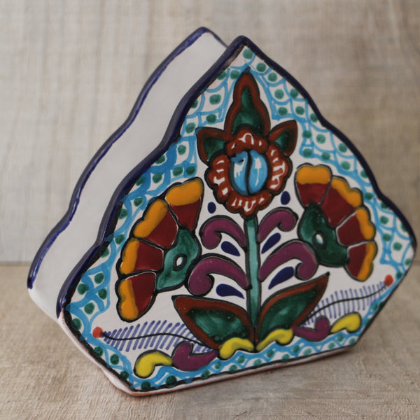 Talavera napkin holder