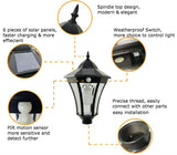 Solar Spindle Top Wall Light