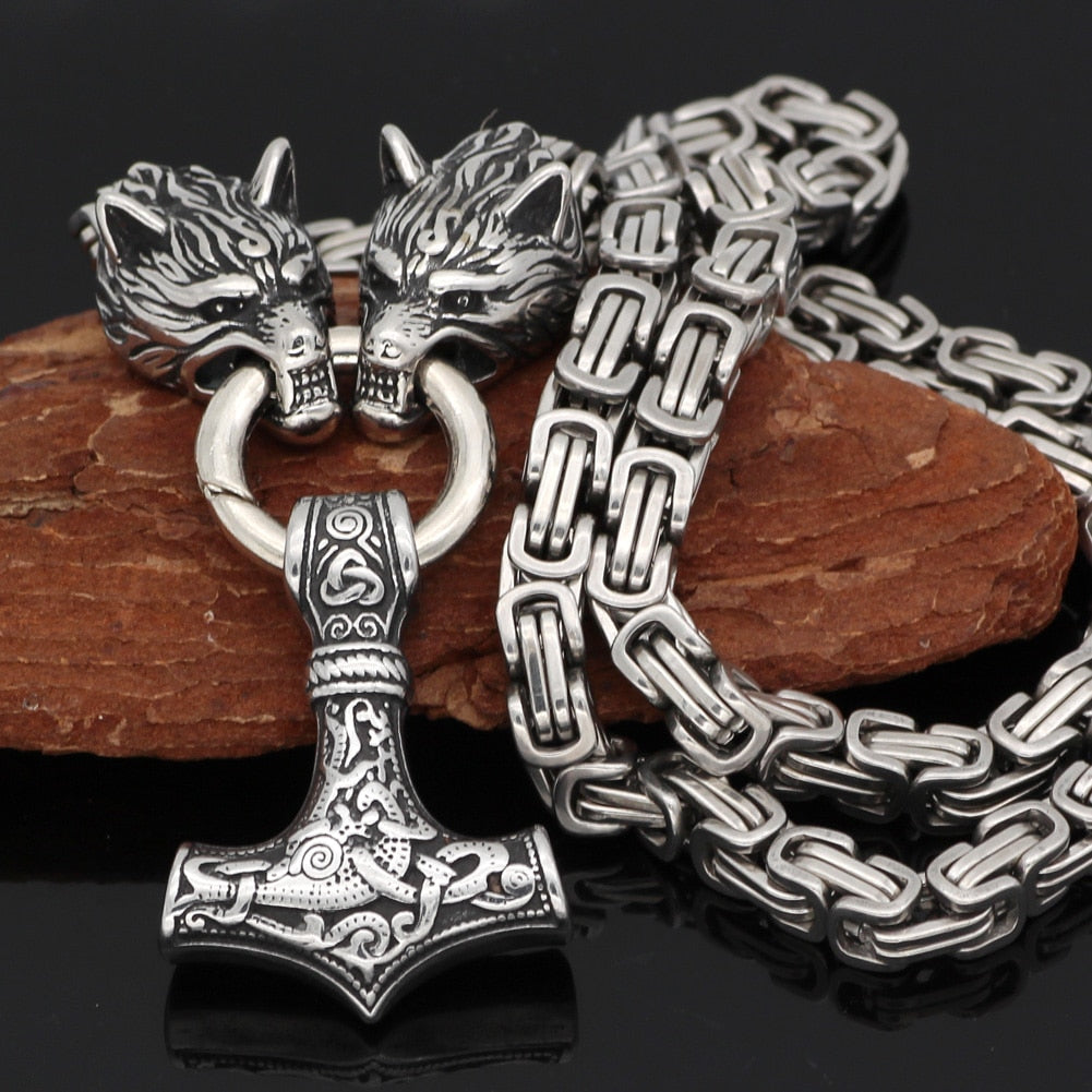 Viking Box Chain Necklace