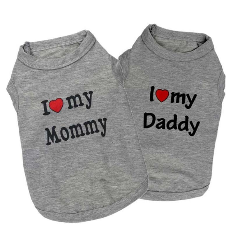 Mommy Daddy : tee-shirt léger pour petits poilus vetement Chimey's Paradise