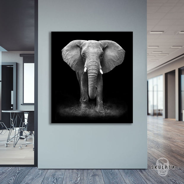"Skulpta Canvas Print 30x30cm / 12x12"" / Rolled Canvas ・""Elephant Power""・"