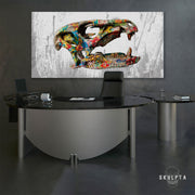 "Skulpta Canvas Print 40x80cm / 16x32"" / Rolled Canvas ・""Dino""・"