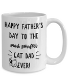Cat Lover- Happy Father's Day to The Best Cat Dad Ever Coffee Mug- Gift Idea Father's Day Cat Lover - GuysandGirlsGeneral