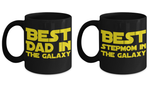 STAR WARS Couple Dad Stepmom Coffee Mug Gift Set- Dad Stepmother Starwars Merchandise Father Step Mom …