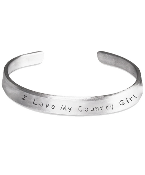I Love My Country Girl Stamped Bracelet - GuysandGirlsGeneral