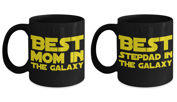 STAR WARS Couple Mom/Stepdad Coffee Mug Gift Set- Star Wars Fans- Galaxy Gifts- Mother Stepdad Gifts- Star Wars Mom Stepdad Gifts …