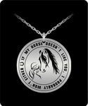 Horse Lover Stainless Steel Pendant- Laser Engraved If Doesn't Like You Girl Riding Equestrian Gift - GuysandGirlsGeneral