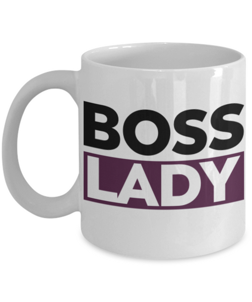 Boss Lady White Coffee Mug- Lady Boss - Purple and Black White Mug- Women Empowered Coffee Mug- Gifts for Lady Boss- - GuysandGirlsGeneral