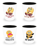Sexy Shot Glasses For Men- Party Shots - Woman Shaped- 4-piece set- Funny Novelty Drinking - Blow Job - Inappropriate Gifts - 21st Birthday Gift-Mature