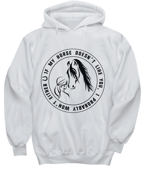 Horse Lover Hoodie Girl Riding- Equestrian Gift Idea- I Love My Horse girl's best friend Funny - GuysandGirlsGeneral