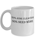 The Perfect Gift For Wine Drinker Moms! White Coffee Mug- Funny Moms Wine Drinkers