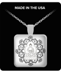 Buddha Lotus Mandala- Peace I Am- Om Meditation Yoga Necklace - GuysandGirlsGeneral