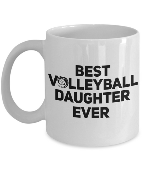 Volleyball Daughter Coffee Mug -My Heart is On That Court Volleyball Mom Daughter-11 Oz 15 OZ Cup