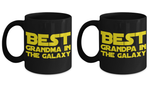 STAR WARS Couple (Grandpa Grandma) Black Coffee Mug Gift Set Gram Gramps Granny Granpa Best Ever Starwars