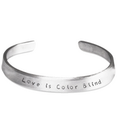 Beautiful Love Is Color Blind Gift Bracelet Perfect for Christmas! - GuysandGirlsGeneral