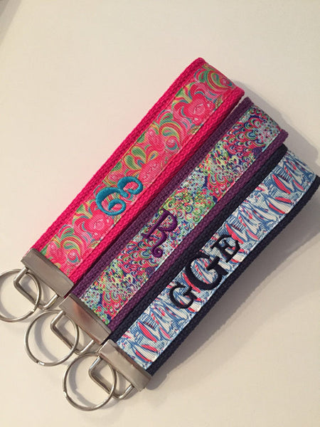 Personalized Keychain Wristlets - Embroidered with name or initials!