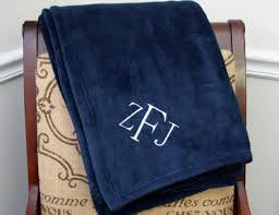 "Plush Blankets with Embroidery! Personalized - Warm and Cozy 50"" X 60"""