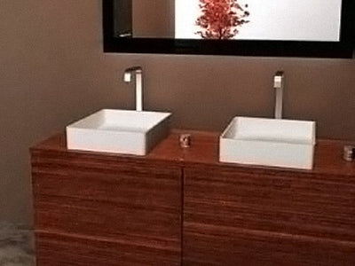 BSH-3 Solid Surface Stone Basin 400mm