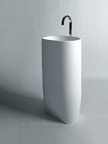 BSL14 freestanding stone basin 530mm - 1 only at this price!