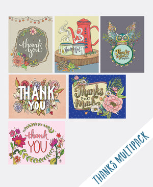 Multi-Pack Thank You Cards