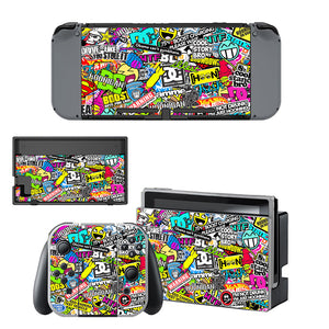 Bombing Skin Stickers For Nintendo Switch Console Sticker + Controller Protective Skins Accessory