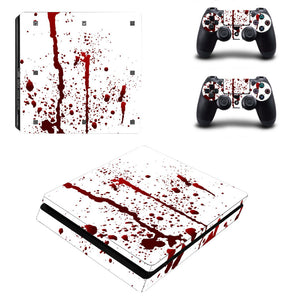 Blood Red PS4 Slim Sticker Decal