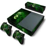 Green Leaf Weed Various Skin Decal Sticker with 2 Pcs Controller Sticker for Xbox One Console