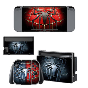 Spider Man Style Nintendo Switch Sticker Skin Decal Set