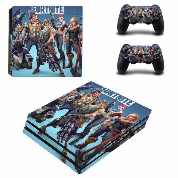 Fortnite Battle Royale Sticker Skin Decal Set for PS4 Pro Console
