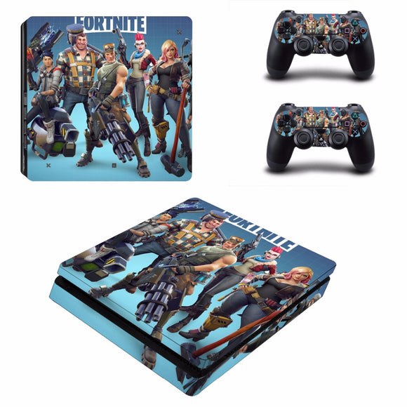 Fortnite Battle Royale Skin Sticker Set for PS4 Slim Console