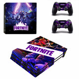 Fortnite Theme Skin Sticker Decal For PS4 Pro Console and 2 Controllers Skins Stickers