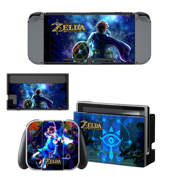 Zelda Style Skin Sticker For Nintendo Switch Console Set
