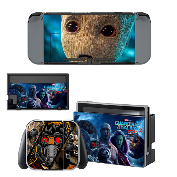 Guardian of Galaxy Style Skin Sticker for Nintendo Switch Console and Controllers set