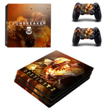 Destiny 2 Sunbreaker Style PS4 Pro Console Sticker Skin Set
