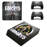 Far Cry 5 Skin Sticker Decal For PS4 Pro Console and 2 Controllers Skins Stickers