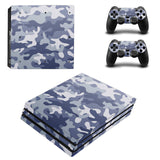 Camouflage Series Protective Skin Sticker For Playstation 4 Pro With Two Sticker For Controllers