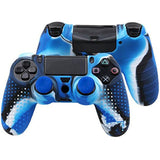 Blue Silicon Anti Slip Grip Case Cover Skin for PS4 Controller