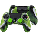 Green Silicon Anti Slip Grip Case Cover Skin for PS4 Controller