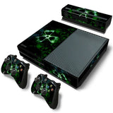 Bio Hazard Skin Decal Sticker with 2 Pcs Controller Sticker for Xbox One Console
