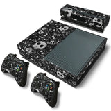 Skull Skin Decal Sticker with 2 Pcs Controller Sticker for Xbox One Console