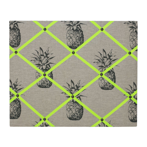 Pineapple Linen / Neon Yellow Ribbon Memo Board