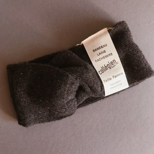 MUMMY AND ME WOOL AND CAHMERE HEADBANDS IN DARK GRAY