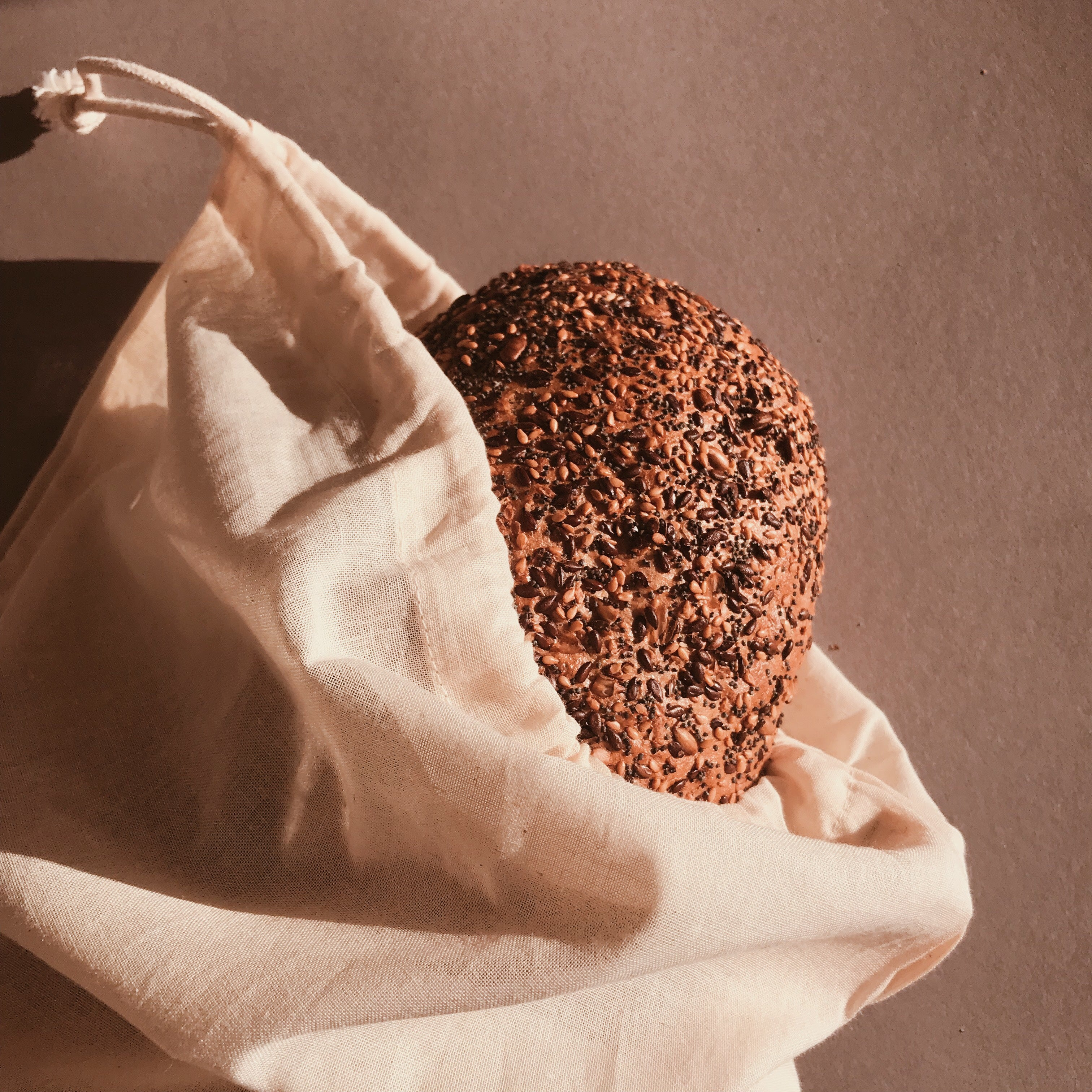 GOTS CERTIFIED ZERO WASTE BREAD BAG